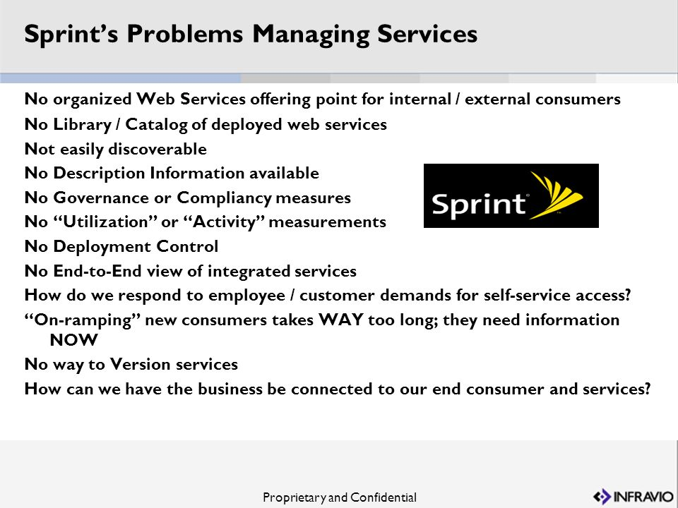 Sprint's Problems Managing Services