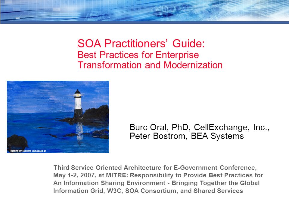 Soa practitioners guide.