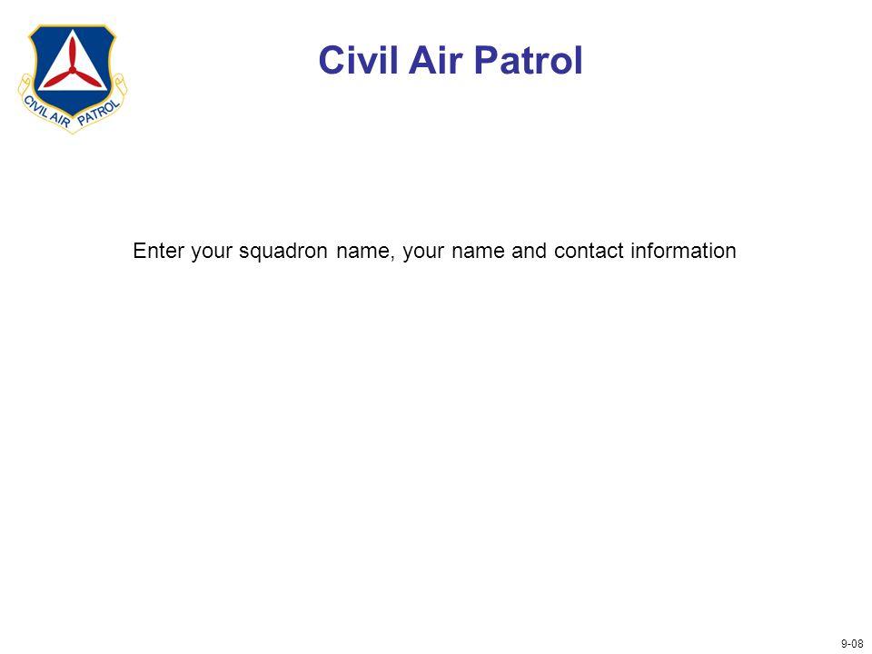 Civil Air Patrol Presented By Presenter S Name Squadron
