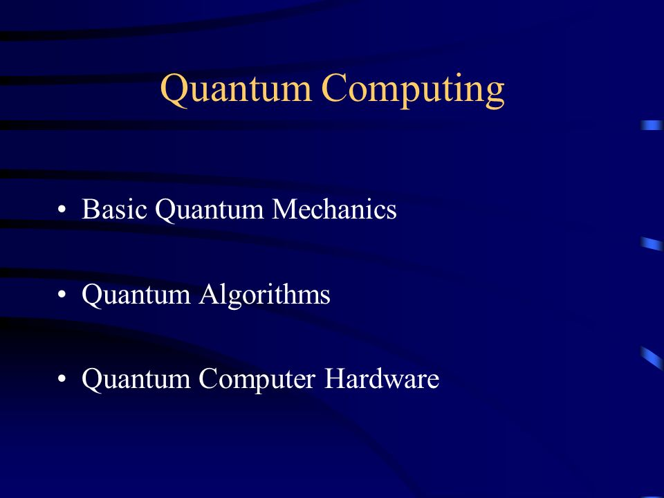 Quantum Computing BCS Belgium Branch  - ppt video online