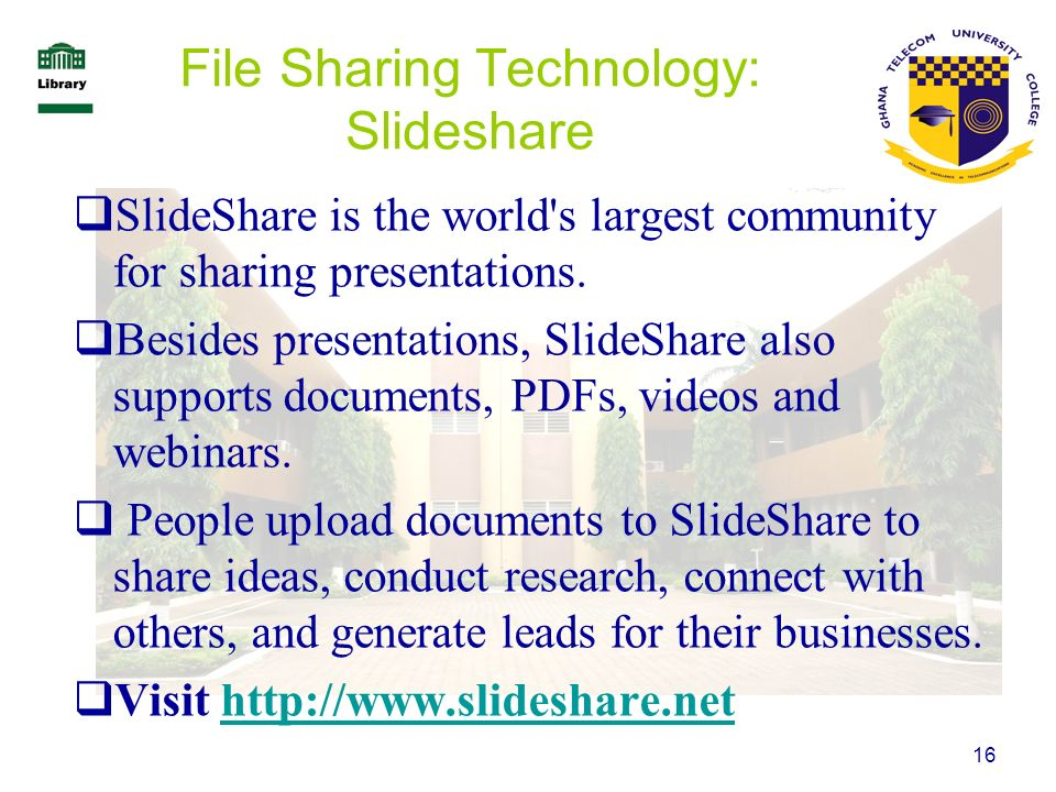 File Sharing Technology: Slideshare
