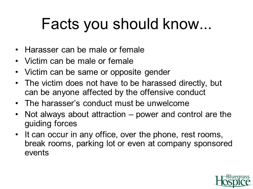 Myths and Facts about Sexual Harassment - Rape and Abuse Crisis.