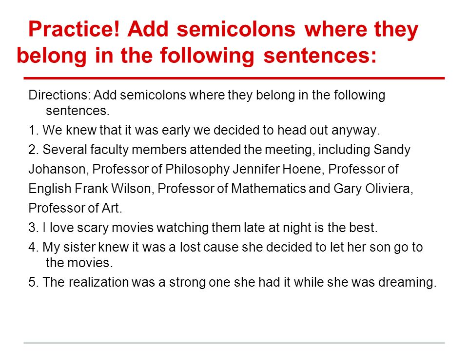 Act Minilessons Semicolons Colons Ppt Download