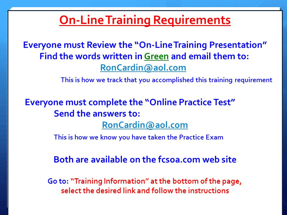 On line training presentation ppt download 3 on line training requirements fandeluxe Image collections