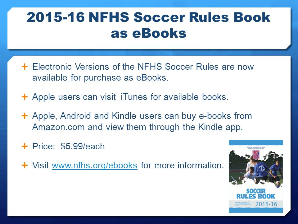 On line training presentation ppt download 59 2015 16 nfhs soccer rules book as ebooks fandeluxe Image collections