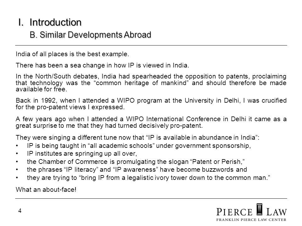 I. Introduction B. Similar Developments Abroad
