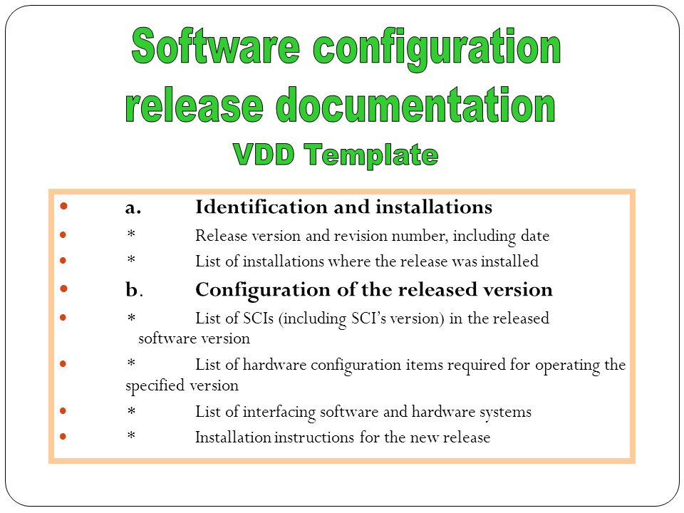 Software quality infrastructure components ppt video online download 51 software configuration release documentation maxwellsz