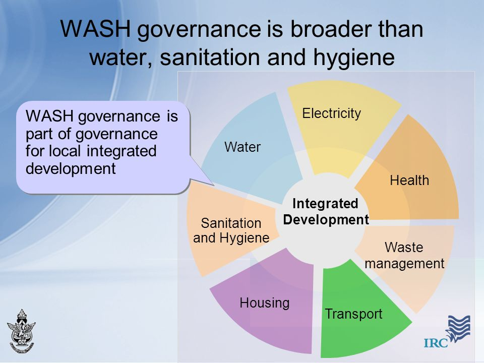 WASH governance is broader than water, sanitation and hygiene