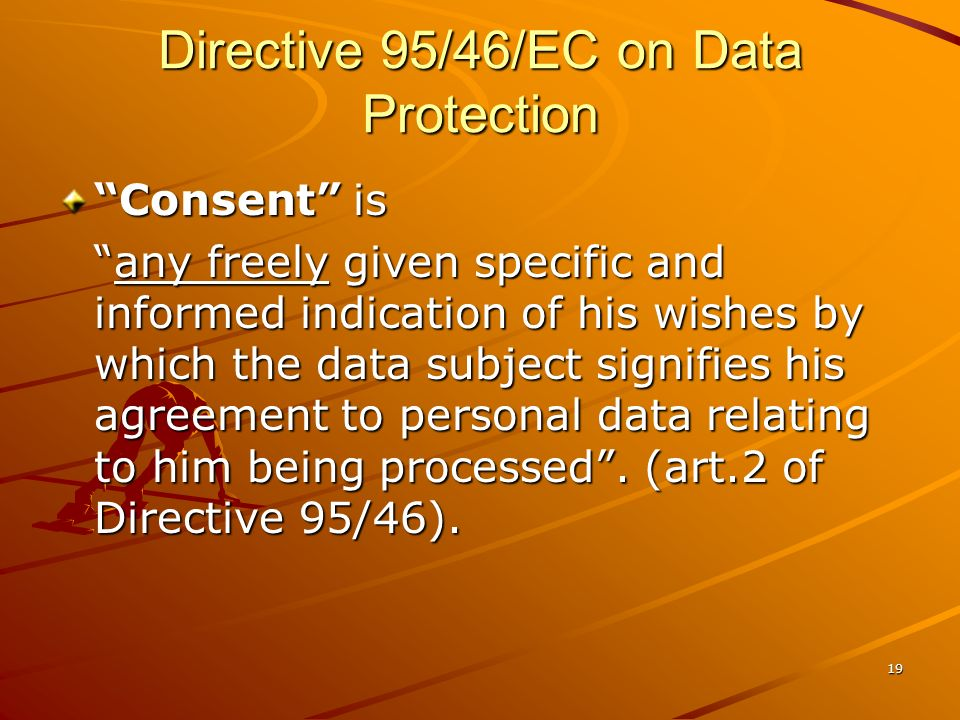 Directive 95/46/EC on Data Protection