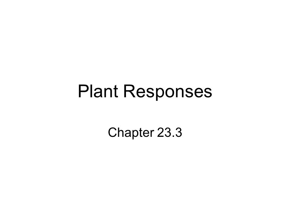Plant Responses Chapter 23.3
