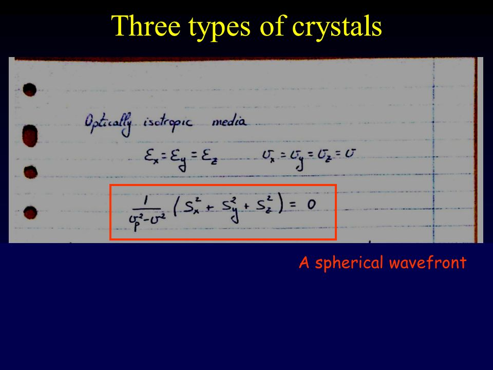 Three types of crystals