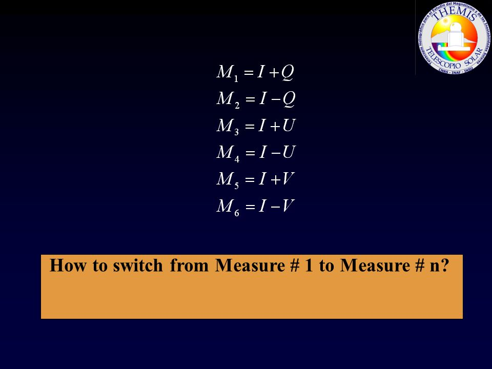 How to switch from Measure # 1 to Measure # n