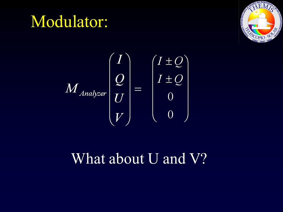 Modulator: What about U and V