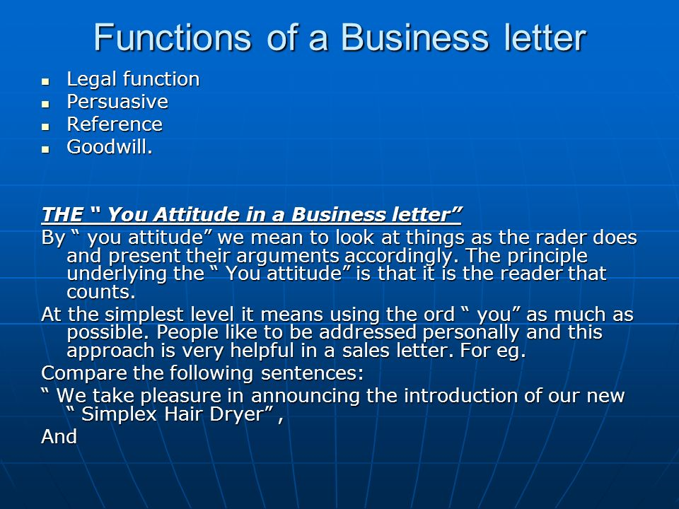 need and functions of business letters