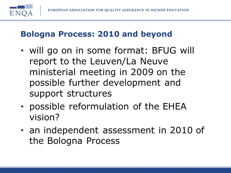 Bologna Process: 2010 and beyond