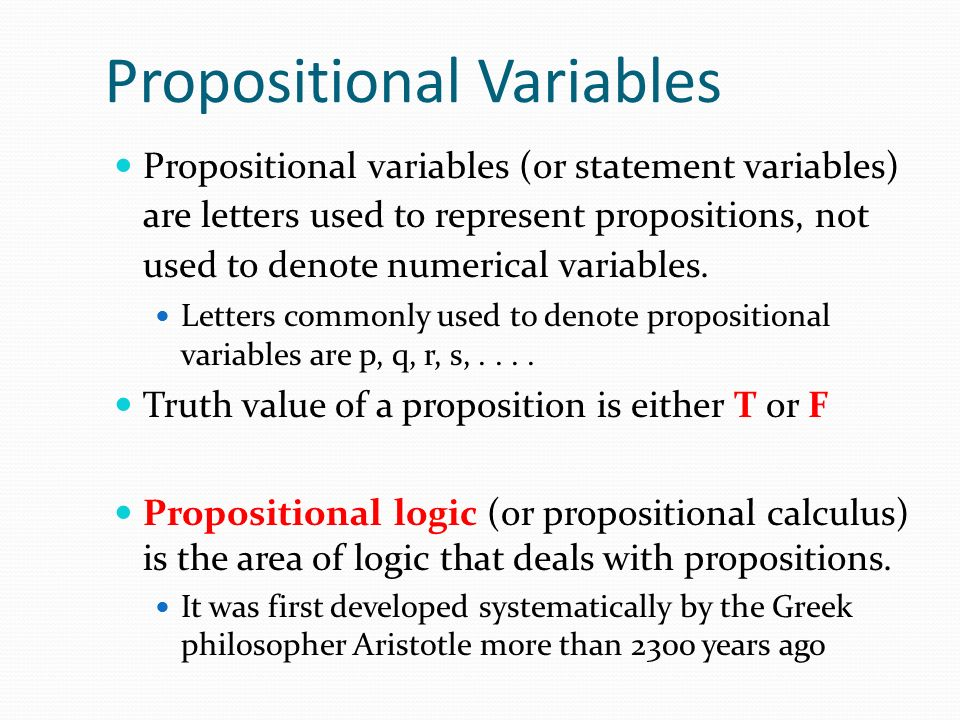 Propositional Variables