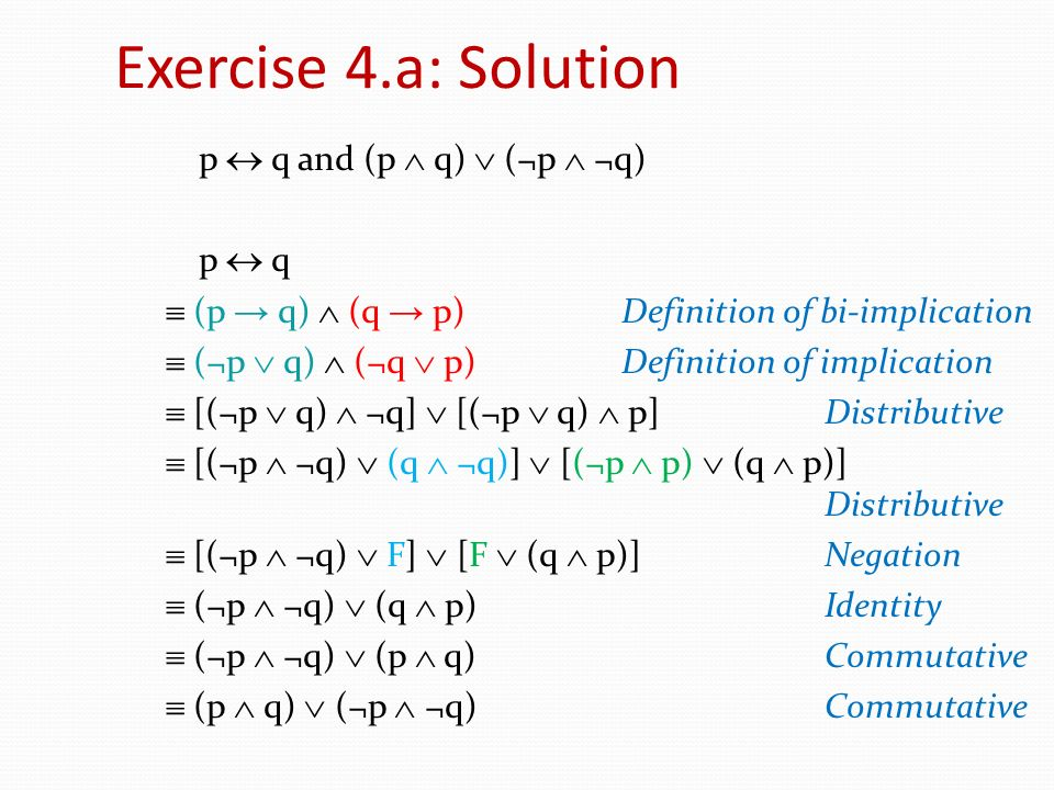 Exercise 4.a: Solution
