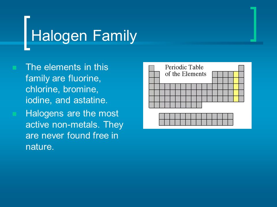 Periodic table of elements ppt video online download 44 halogen urtaz Gallery