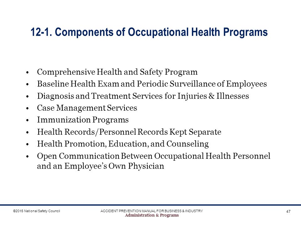 administration programs ppt download rh slideplayer com Iipp Safety Manual Safety Program Topics