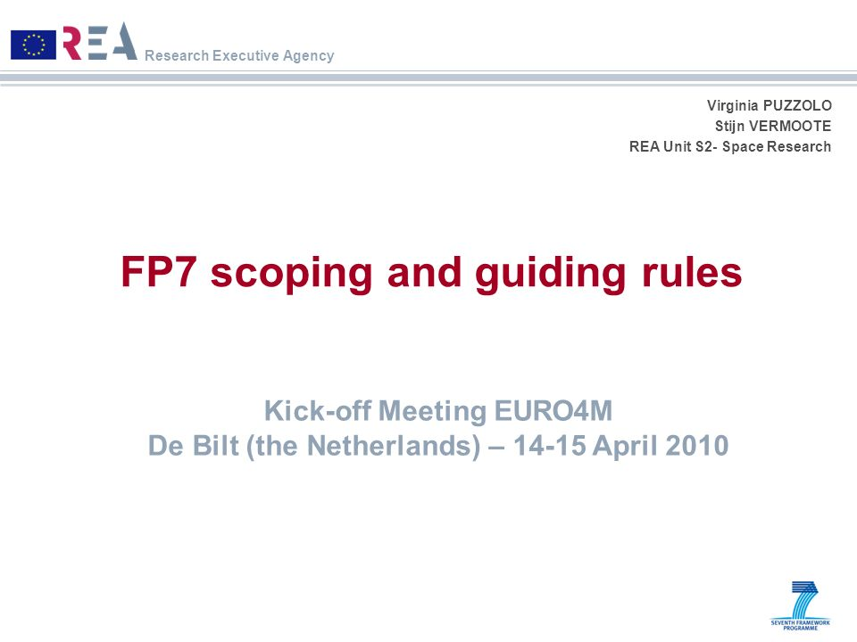 FP7 scoping and guiding rules
