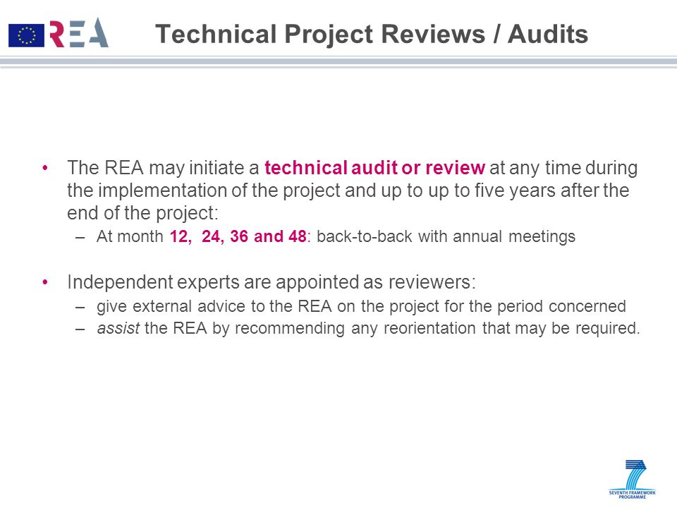 Technical Project Reviews / Audits