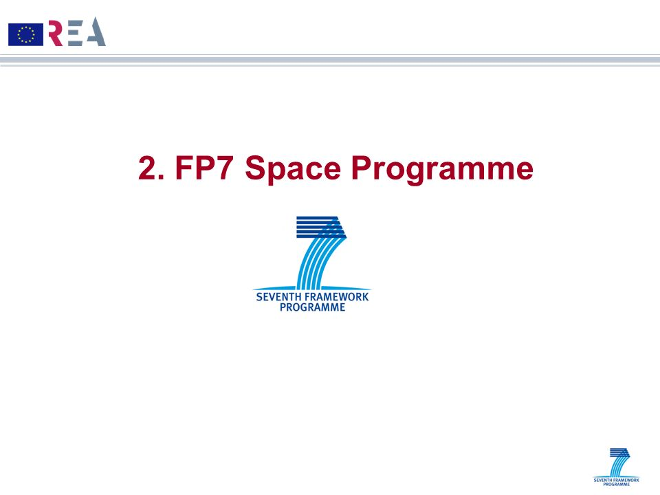 2. FP7 Space Programme