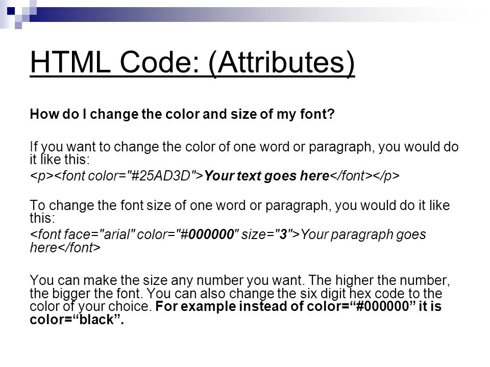 can i change the font on my iphone understanding html code ppt 2831