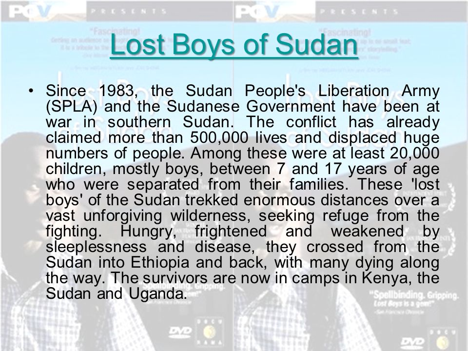 Sudan civil war independence darfur ppt video online download lost boys of sudan publicscrutiny Gallery