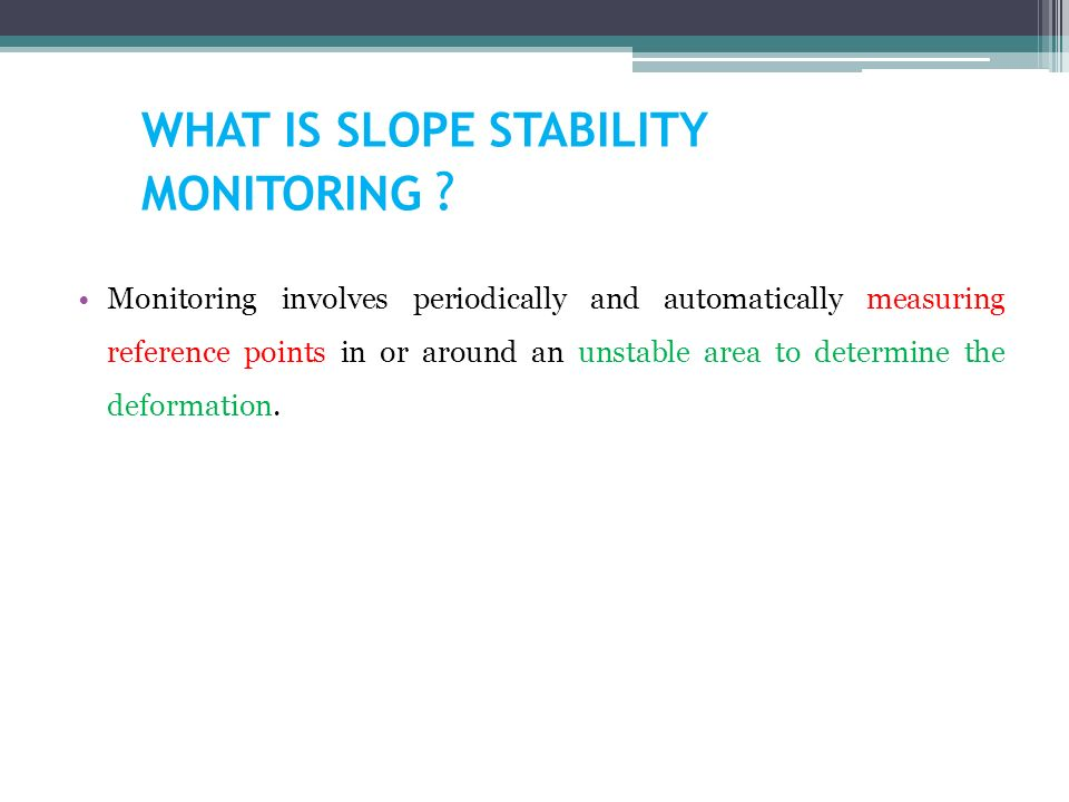 SLOPE MONITORING BY TDR – A LOW COST SYSTEM - ppt video online download