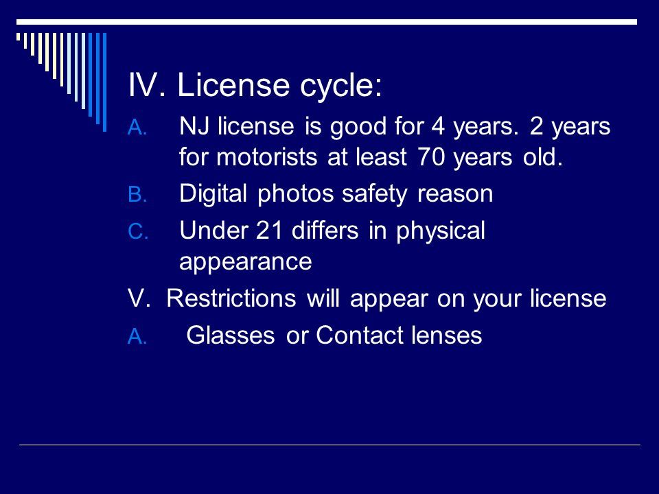 CHAPTER ONE YOUR NJ DRIVER LICENSE. - ppt video online download