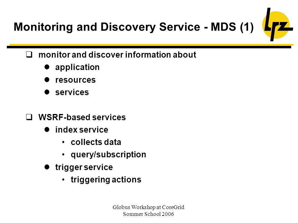 Monitoring and Discovery Service - MDS (1)