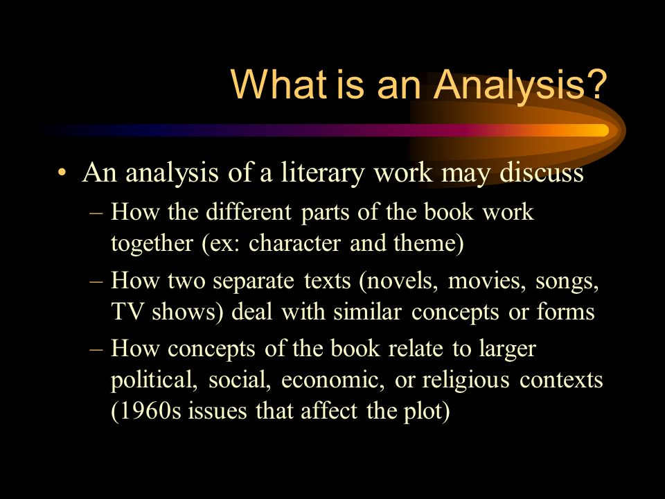 Perfect 4 What Is An Analysis?