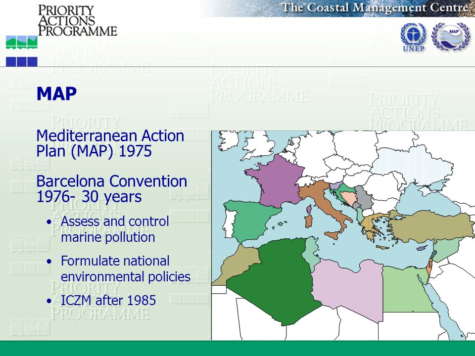 MAP Mediterranean Action Plan (MAP) 1975