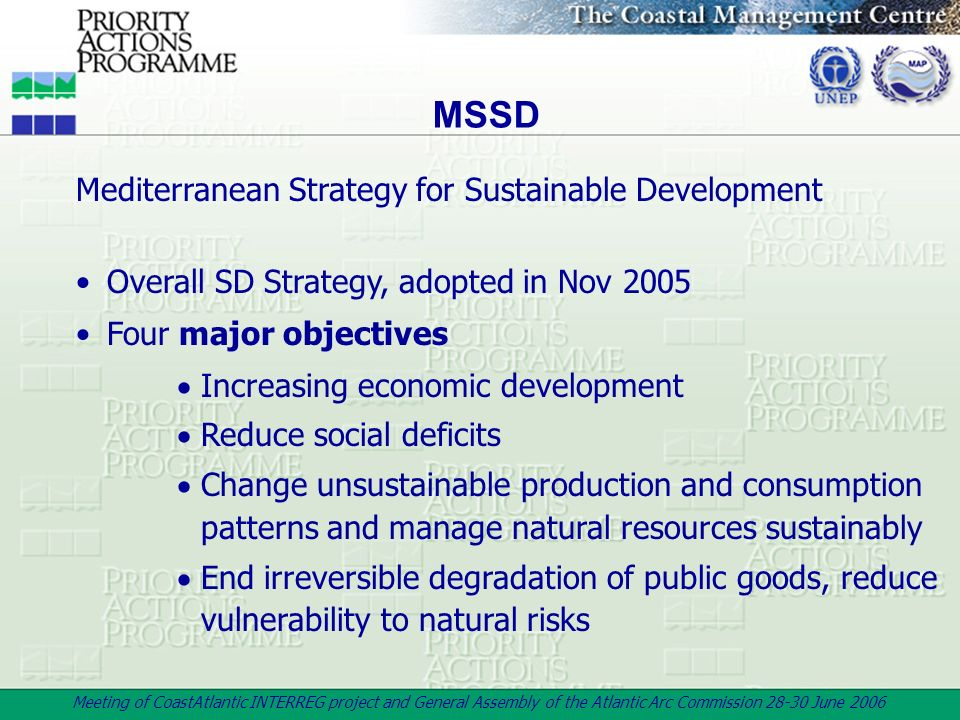 MSSD Mediterranean Strategy for Sustainable Development