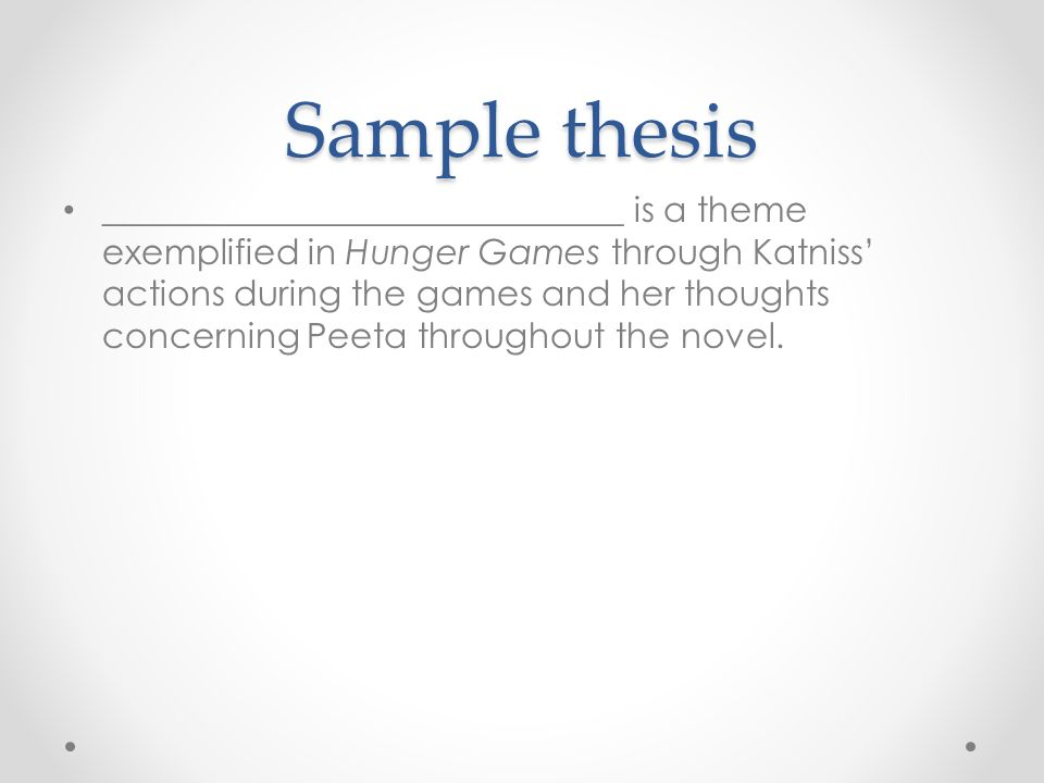thesis statement examples for the hunger games