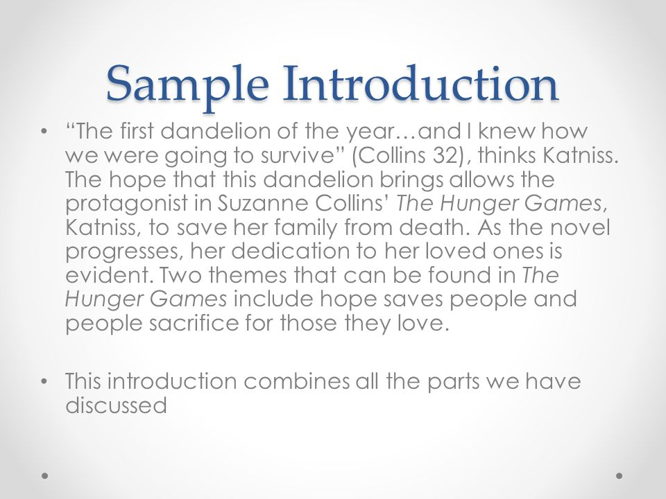 Thesis statement examples for the hunger games homework hero wardlaw
