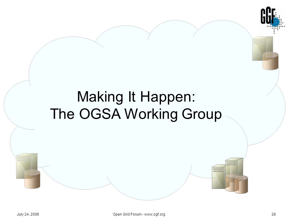 Making It Happen: The OGSA Working Group