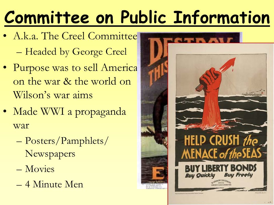 george creel committee on public information