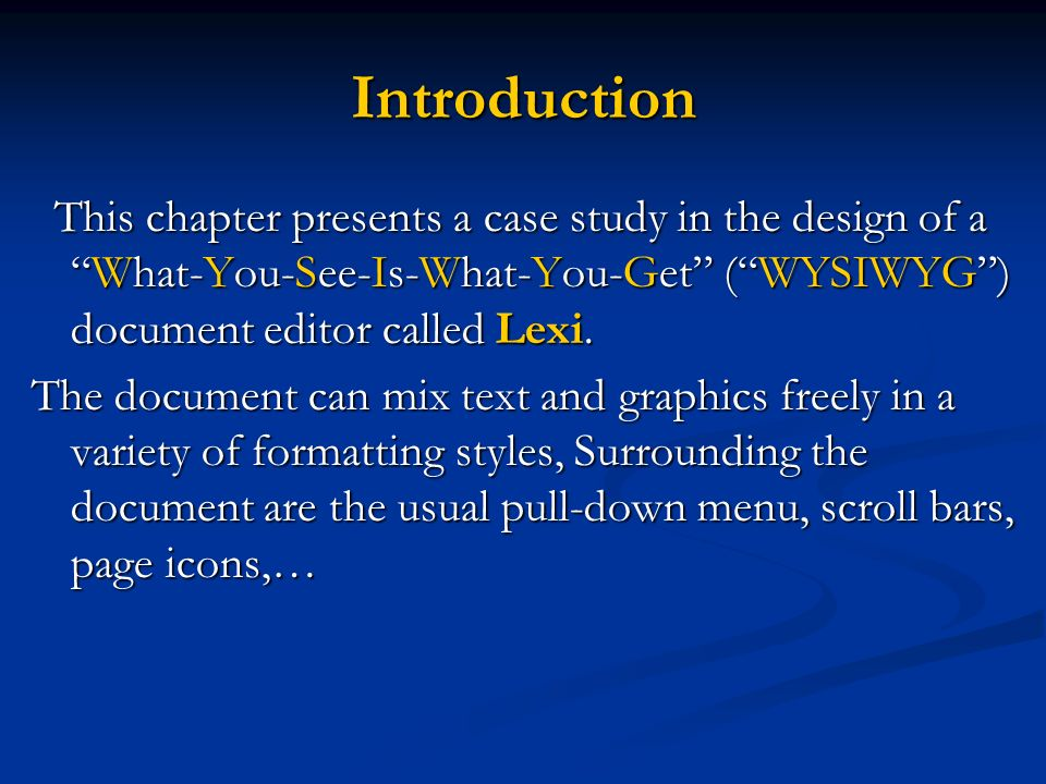 A Case Study Designing A Document Editor Lexi Ppt Video