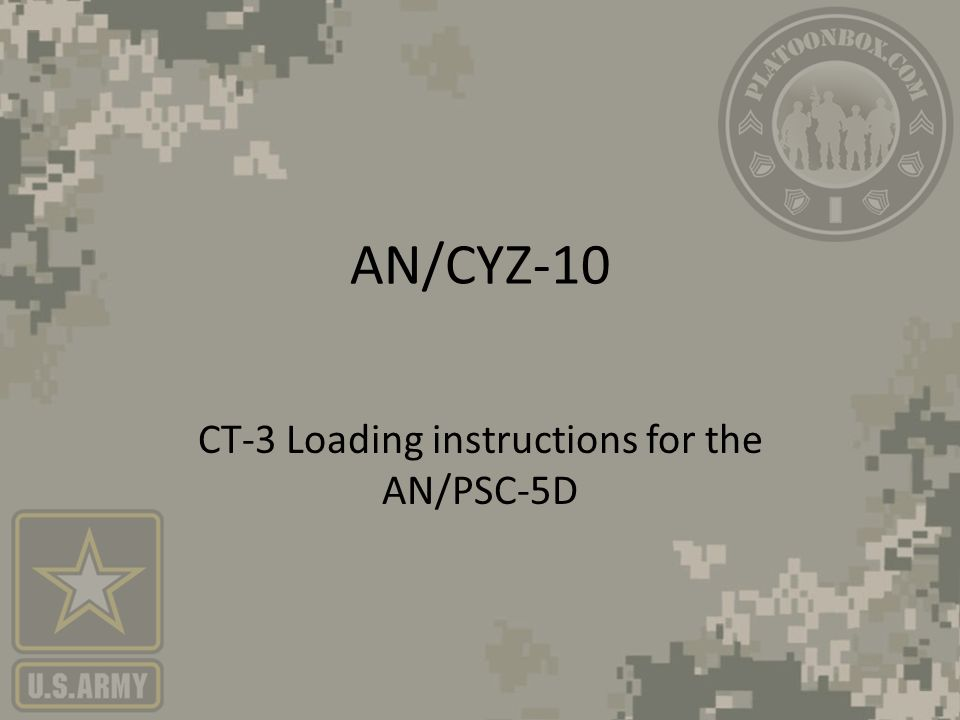 Fill And Comsec Procedures For The Anpsc 5 Series Radios Ppt