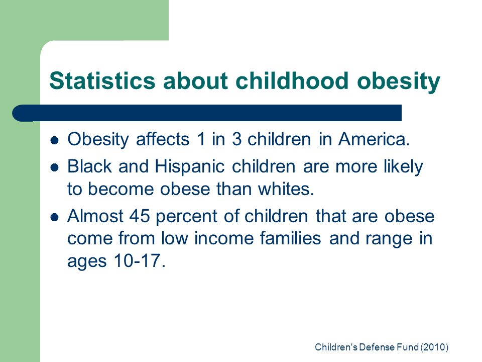 childhood obesity in low income families