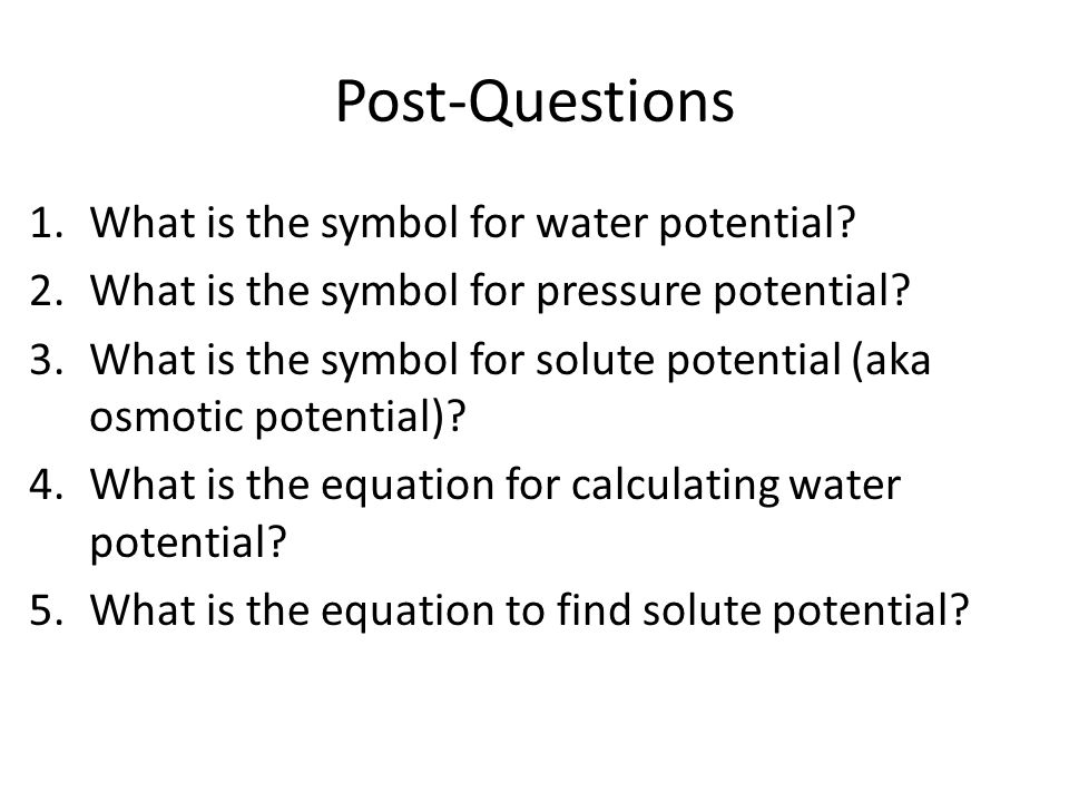 Diffusionosmosiswater Potential Ppt Video Online Download