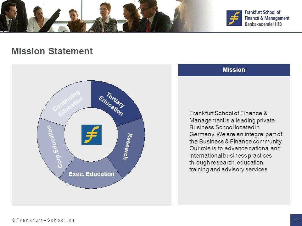 Bankfachwirt frankfurt school of finance