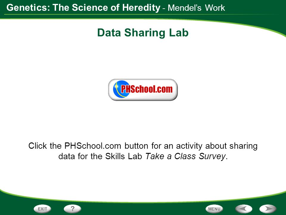 Data Sharing Lab - Mendel's Work