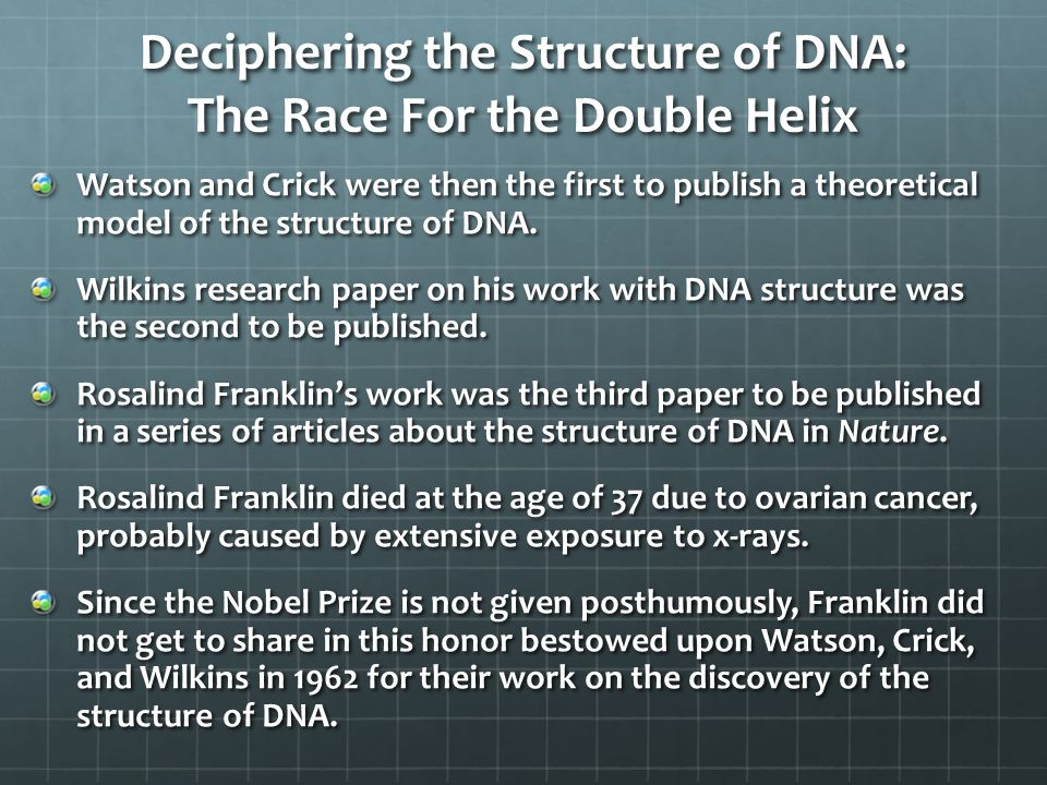 dna research paper