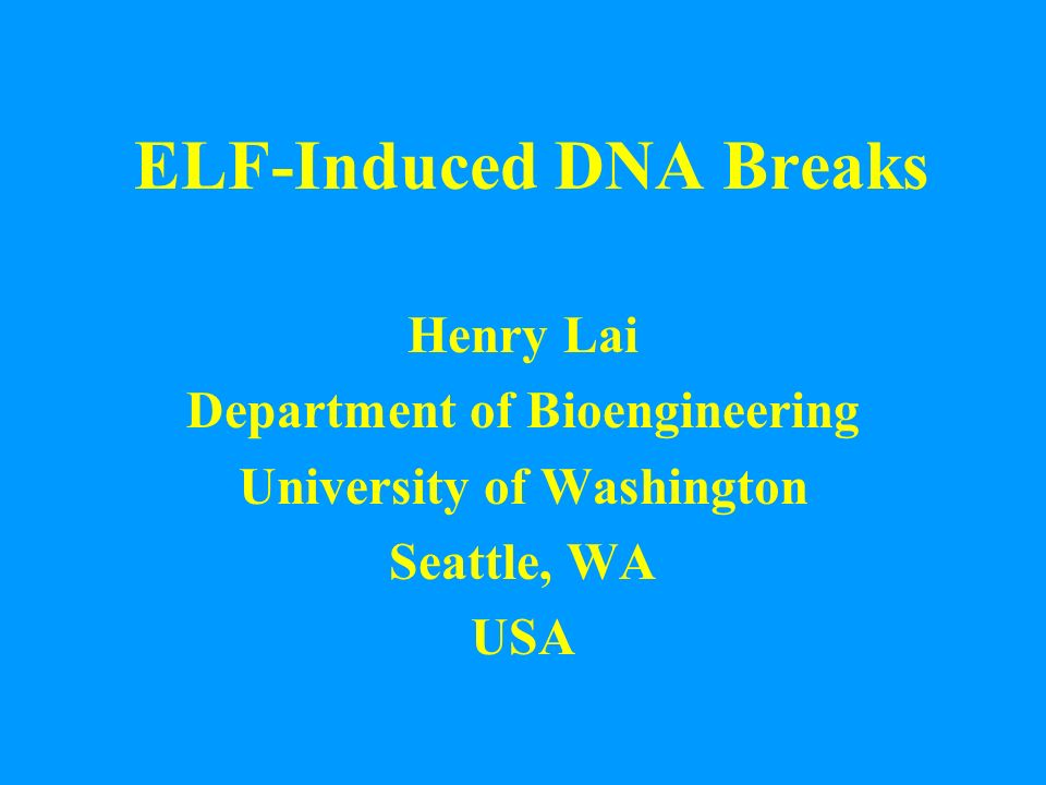 ELF-Induced DNA Breaks