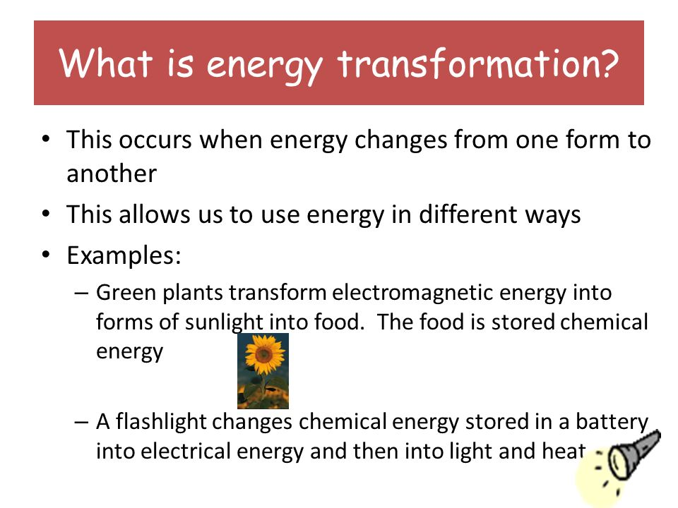 Scientific forms of energy: stored energy, kinetic energy.
