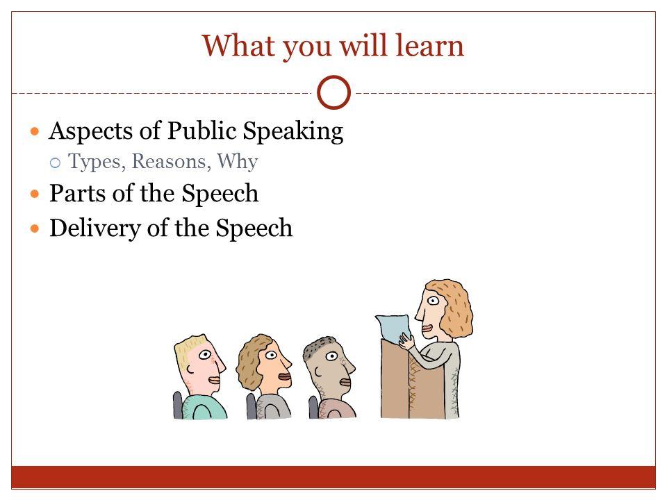 aspects of public speaking