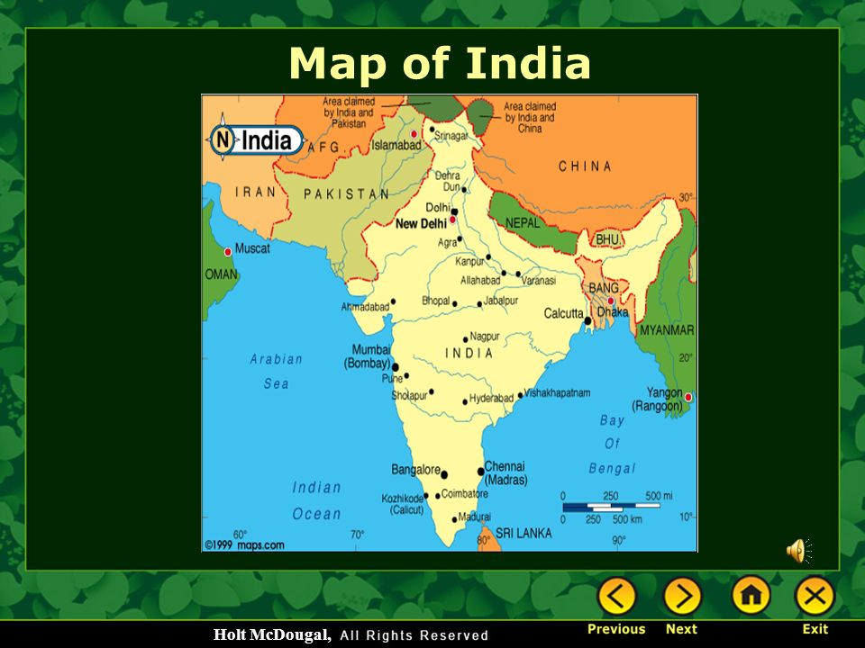 Ancient india ppt video online download 2 map of india publicscrutiny Images