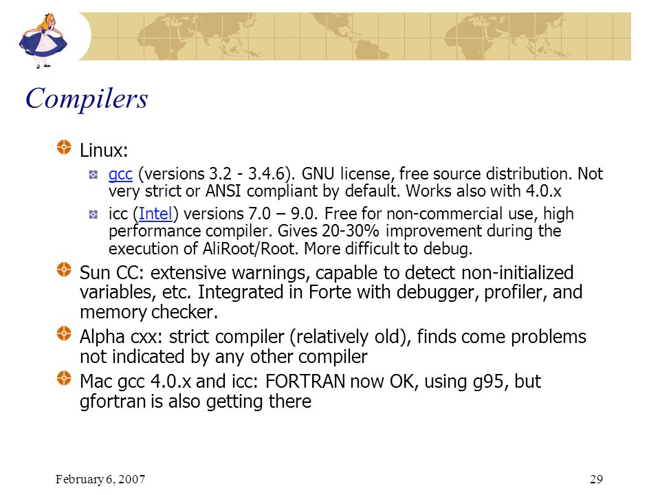 Compilers Linux: